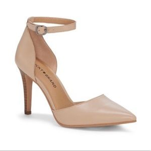 Lucky Brand Nude Tukko d'Orsay Ankle Strap Pump 6M